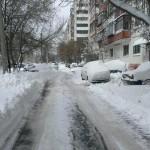 утро после снегопада в апреле