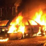 сожгли машину на парковке