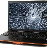 разбитый ноутбук